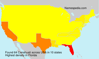 Surname Canahuati in USA