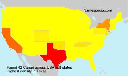 Surname Canari in USA