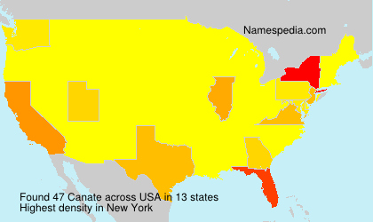 Surname Canate in USA