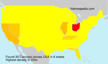 Surname Cancasci in USA