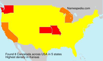 Surname Cancelada in USA