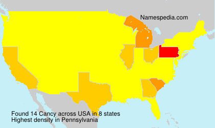 Surname Cancy in USA