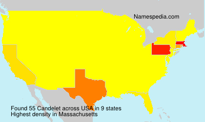Surname Candelet in USA