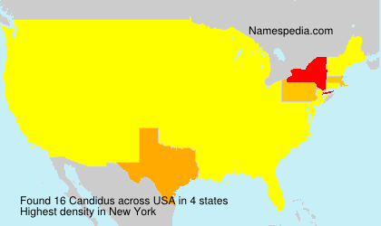 Surname Candidus in USA