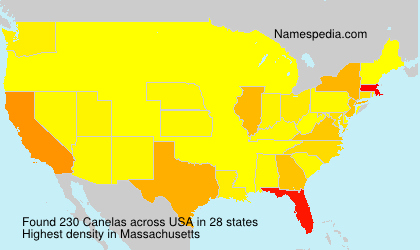 Surname Canelas in USA