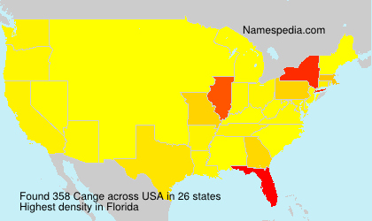 Surname Cange in USA