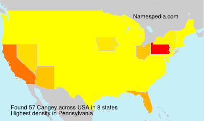 Surname Cangey in USA