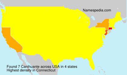 Familiennamen Canihuante - USA