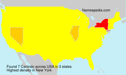 Surname Canindo in USA