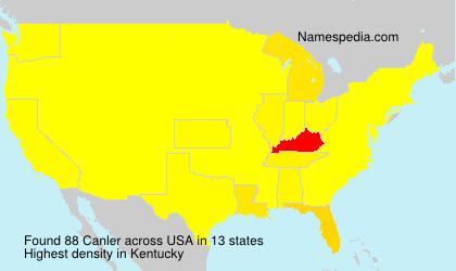 Surname Canler in USA