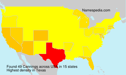 Surname Cannings in USA