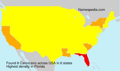 Surname Cannizarro in USA