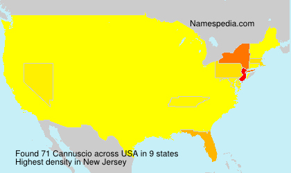Surname Cannuscio in USA