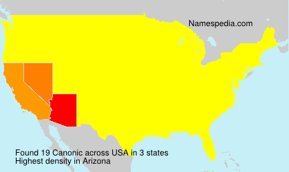 Surname Canonic in USA