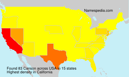 Surname Canson in USA
