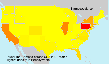 Surname Cantafio in USA