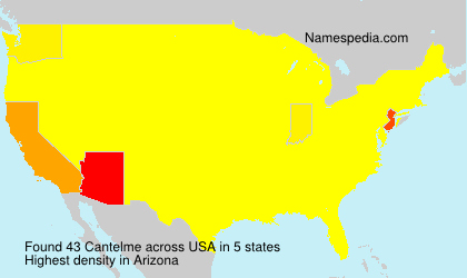 Familiennamen Cantelme - USA