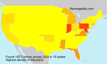 Surname Cantner in USA