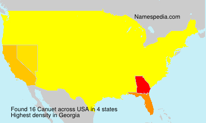 Surname Canuet in USA
