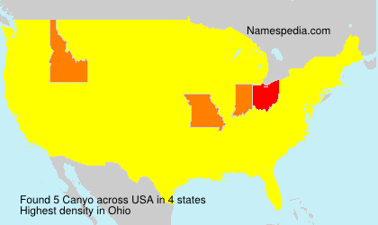 Surname Canyo in USA