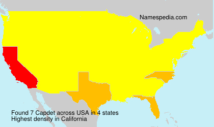 Surname Capdet in USA