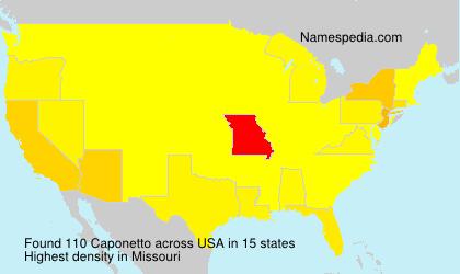 Surname Caponetto in USA