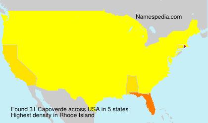 Surname Capoverde in USA