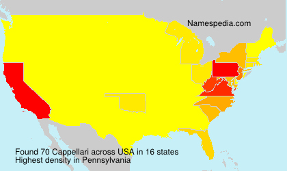 Surname Cappellari in USA