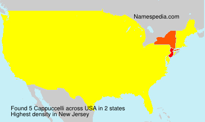 Surname Cappuccelli in USA
