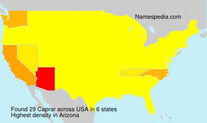 Surname Caprar in USA