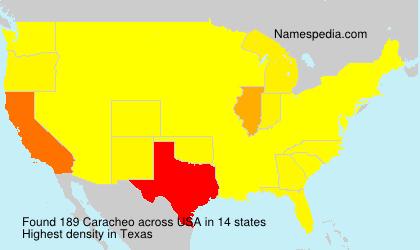 Familiennamen Caracheo - USA