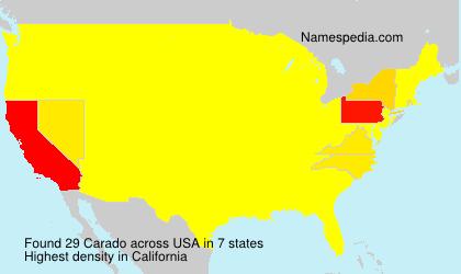 Surname Carado in USA