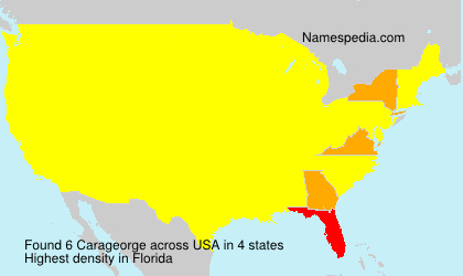 Surname Carageorge in USA