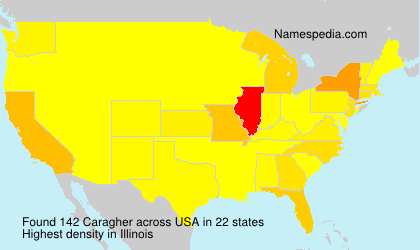 Surname Caragher in USA