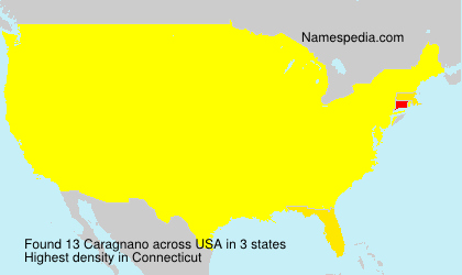 Surname Caragnano in USA