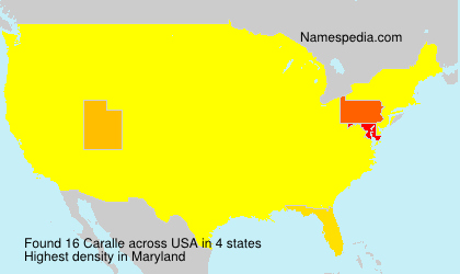 Surname Caralle in USA
