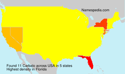 Surname Carbalo in USA