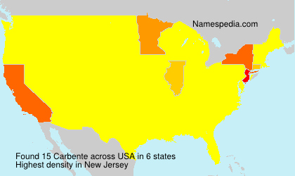Surname Carbente in USA