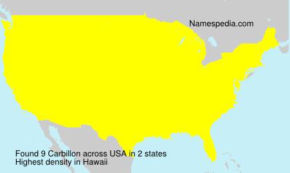 Surname Carbillon in USA