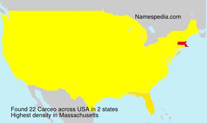 Familiennamen Carceo - USA