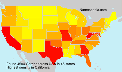Surname Carder in USA
