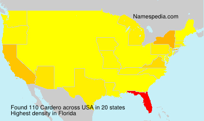 Surname Cardero in USA