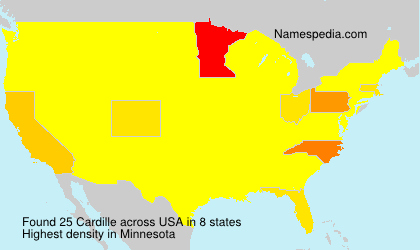 Surname Cardille in USA