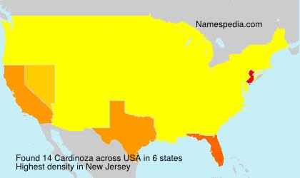 Surname Cardinoza in USA