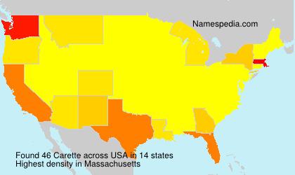 Surname Carette in USA