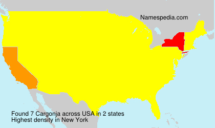 Surname Cargonja in USA