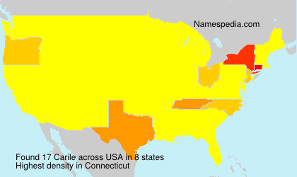 Surname Carile in USA