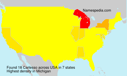 Surname Carlesso in USA