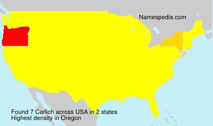 Surname Carlich in USA