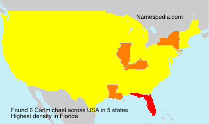 Surname Carlmichael in USA